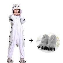 3c8b6173df6718 Miękkie Cartoon Ser Kot Onesies Dla Dorosłych Kigurumi Piżama Flanelowa Jednoczęściowy  Piżama Piżamy Kobiety kostium cosplay