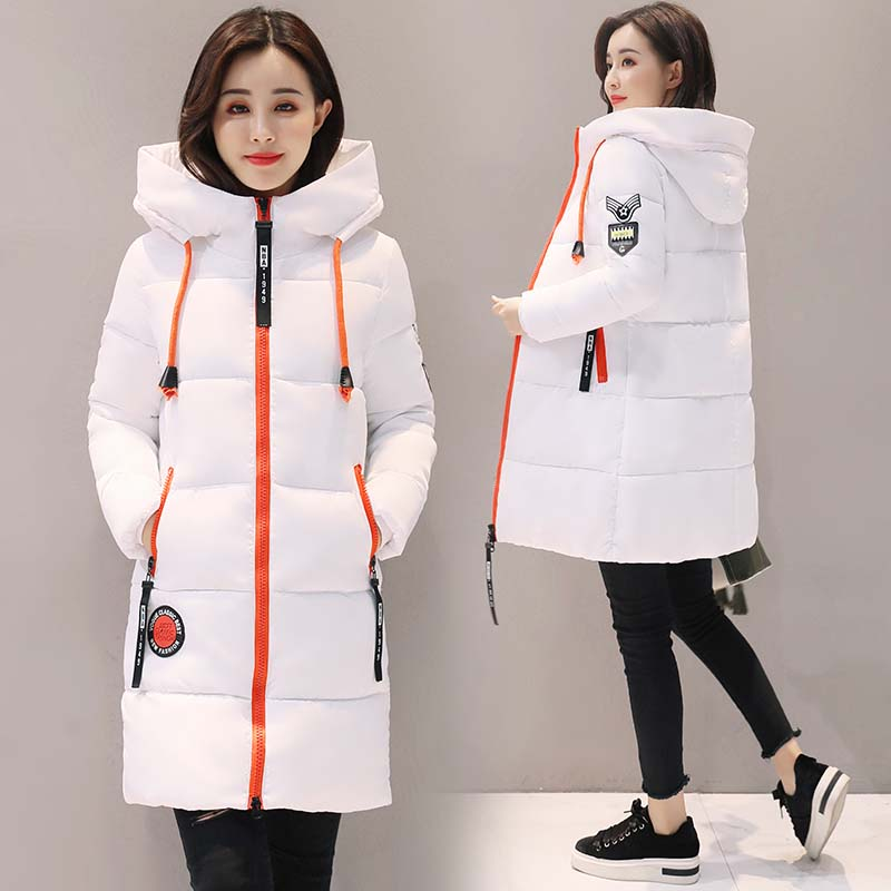 2017 Winter coat women winter jacket women fashion slim long cotton-padded Hooded jacket parka female wadded  outerwear coat