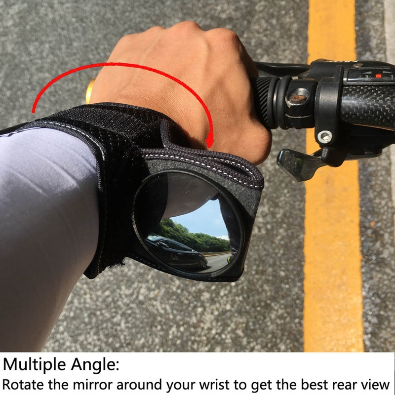 Bicycle Mirrors Bicycle Wrist Mirror Rearview Wristband Motorbike Handlebar Reflector Wristband Mirror Riding Equipment 5