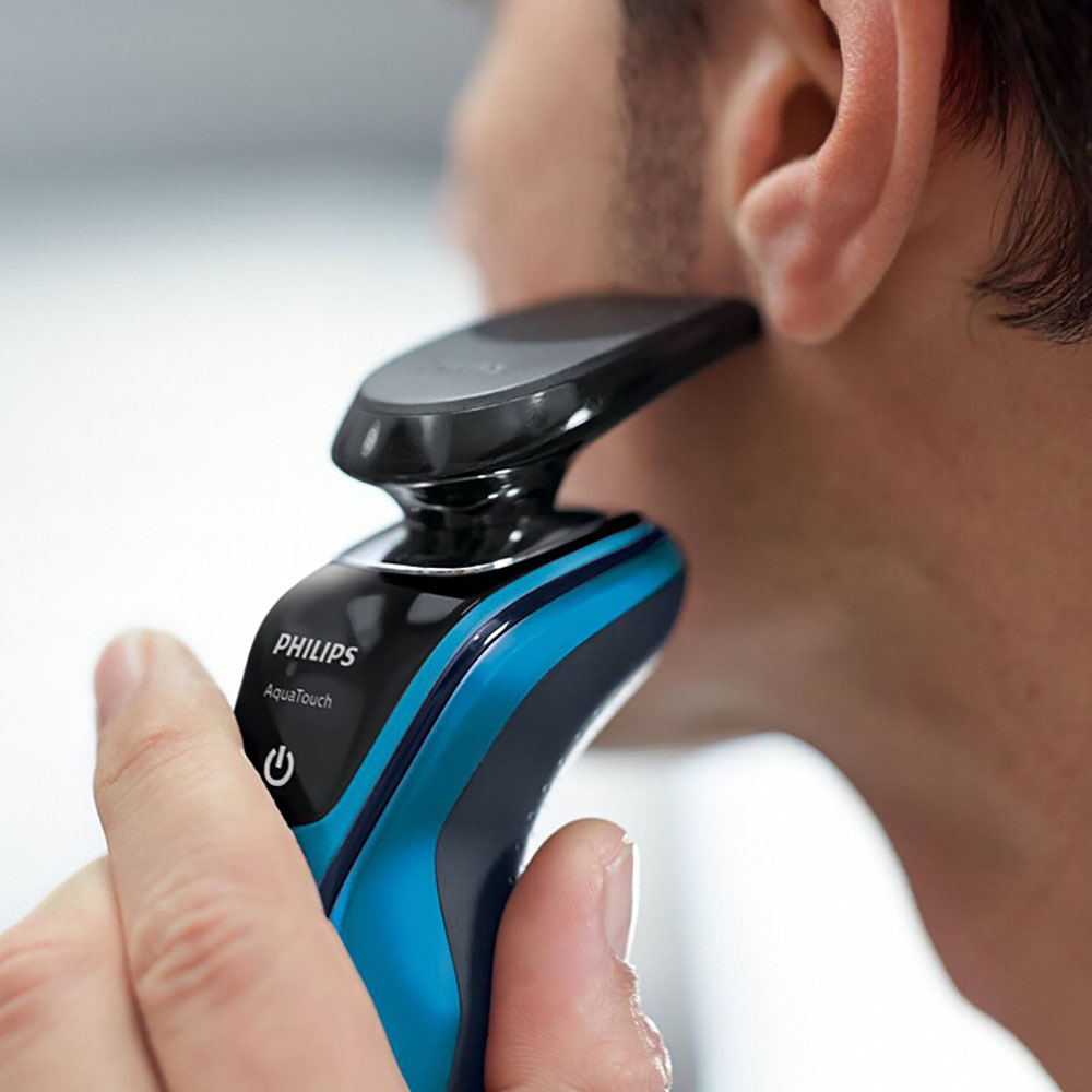Image 3 - Philips AquaTouch Wet and dry electric shaver S5050 Rotary  3 head for Men 30 min/9 shaves with Skin Protection System 100 240 V-in Electric Shavers from Home Appliances