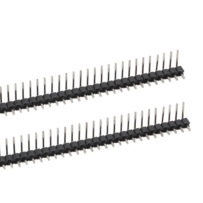 Promotion! 2Pcs 40 Position 2.54mm Pitch Single Row Right Angle Male Pin Header