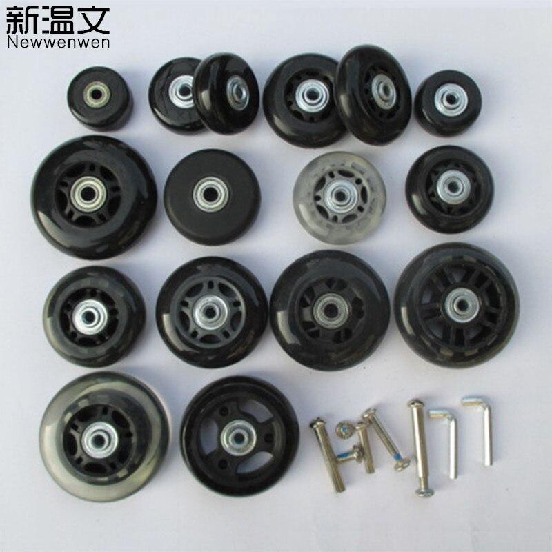 Replacement Luggage Wheels Axles Deluxe luggage wheel Repair 40mm*18mm steel casing pipe