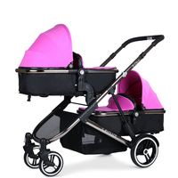 Baby Stroller For Twins Baby Carriage For Newborns Pram Double Stroller Cradle
