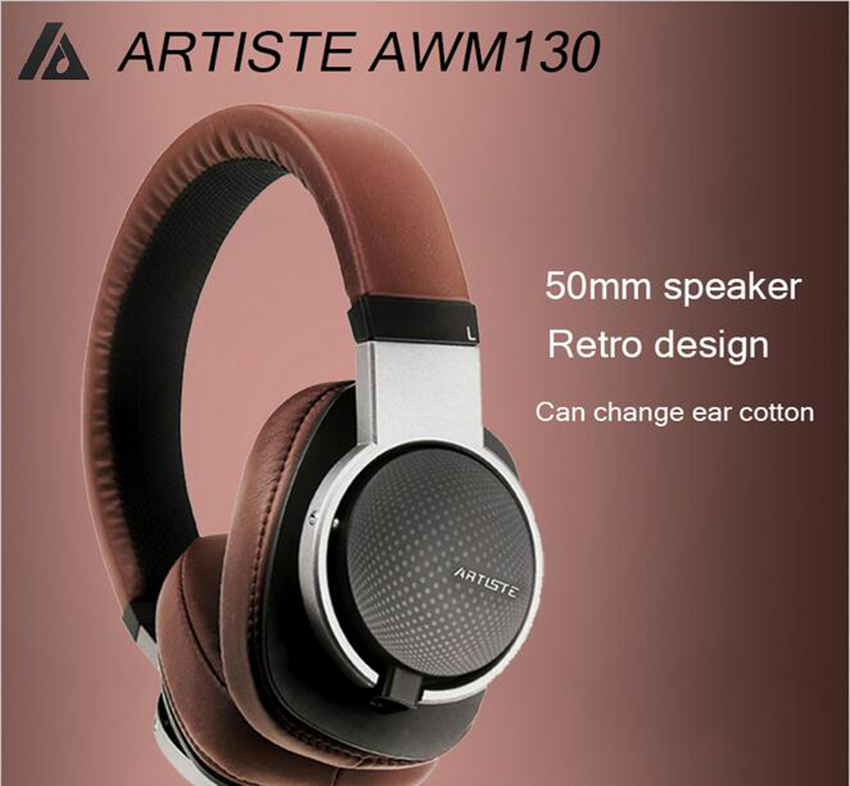 Artiste ARKON AWM130 50mm Driver Dynamic HIFI Deep Bass Stereo Music Computer MP3/4 PHone Headphones Headset w/ 4M Audio Cable ks 509 mp3 player stereo headset headphones w tf card slot fm black