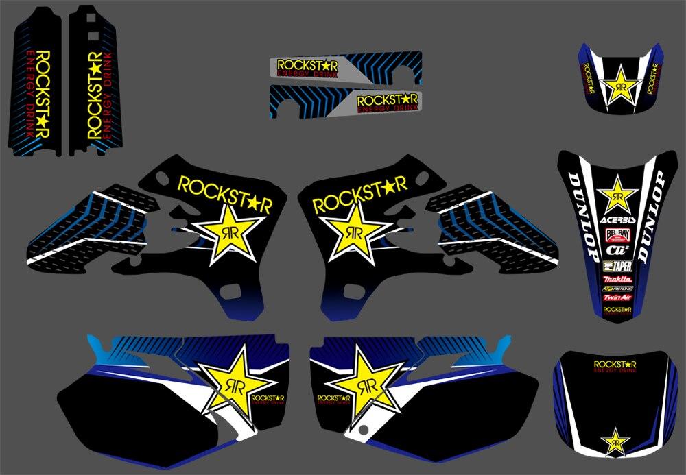 NICECNC 3M Sticker Background Graphics Decals Kit For Yamaha YZ250F YZ450F YZF250 YZF450 YZ 250F 450F YZF 250 450 2003 2004 2005