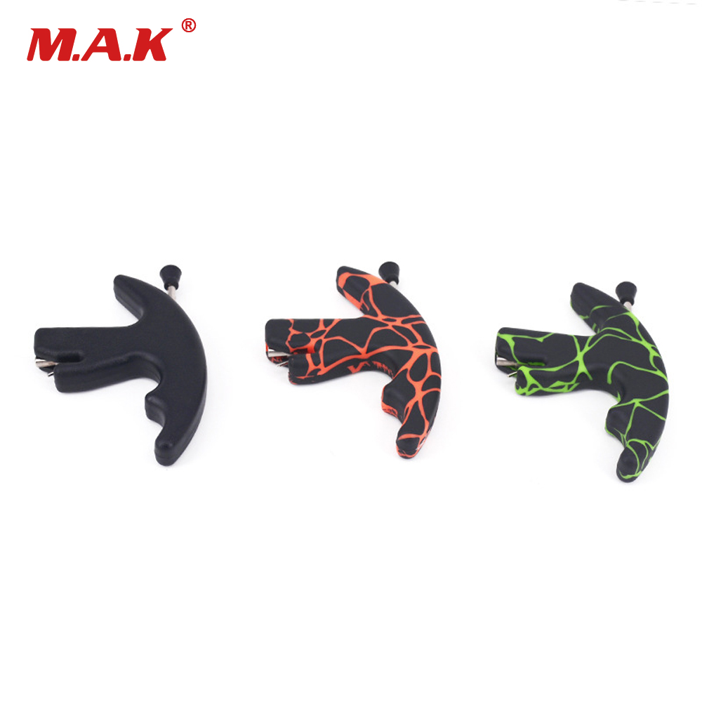 3 Color Three Finger Thumb Release Aid Bow Archery Bow Release for Outdoor Archery Hunting Shooting