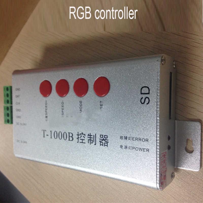 T1000S SD карты RGB светодиодный Управление; для Светодиодный пиксельный модульный свет APA102 WS2801 WS2811 WS2812B LPD6803 DMX512 LPD8806 пикселей Управление