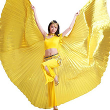 2018 Hot Selling Shining Egyptian Belly Dancing Isis Wings White Belly Dance Costume Wings on Sale No Sticks
