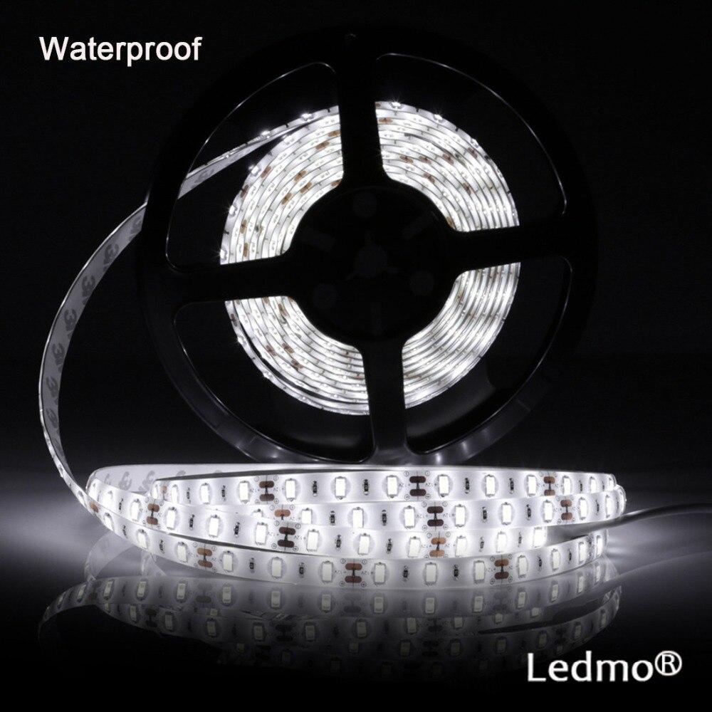 5M 300Leds Led Strip Light White Led Strip Vattentät DC12V Fiexble Light Led Ribbon Tape Indoor
