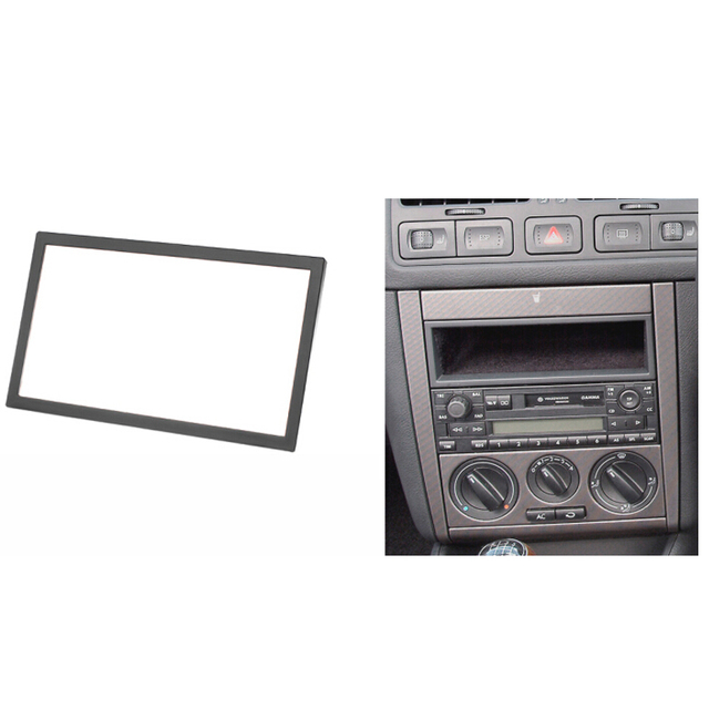 Double Din Audio Fascia for VW Passat B5 Bora Golf IV Radio CD GPS DVD Stereo CD Panel Dash Mount Installation Trim Kit Frame