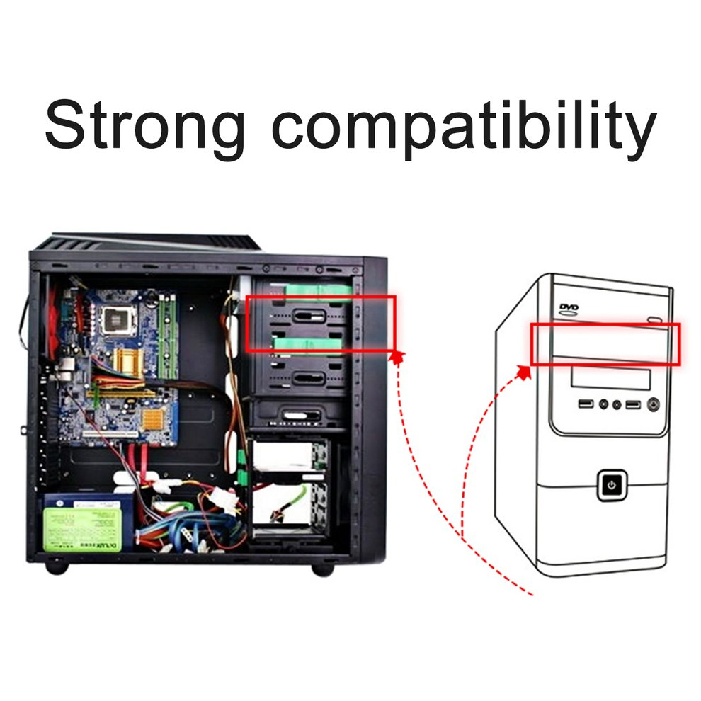 "OImaster Multi-functional Combination of Multi-use Hard Drive Conversion Rack Standard 5.25 Inch Device for 2.5"" 3.5"" Hard Disk"