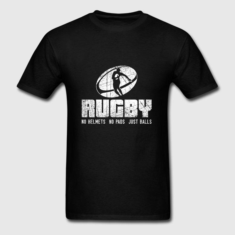 Casual T-Shirt Men 2018 Rugbys No Helmets No Pads Just Balls Gift T-Shirts Cute Top Quality Tee Shirt Standard Sunlight