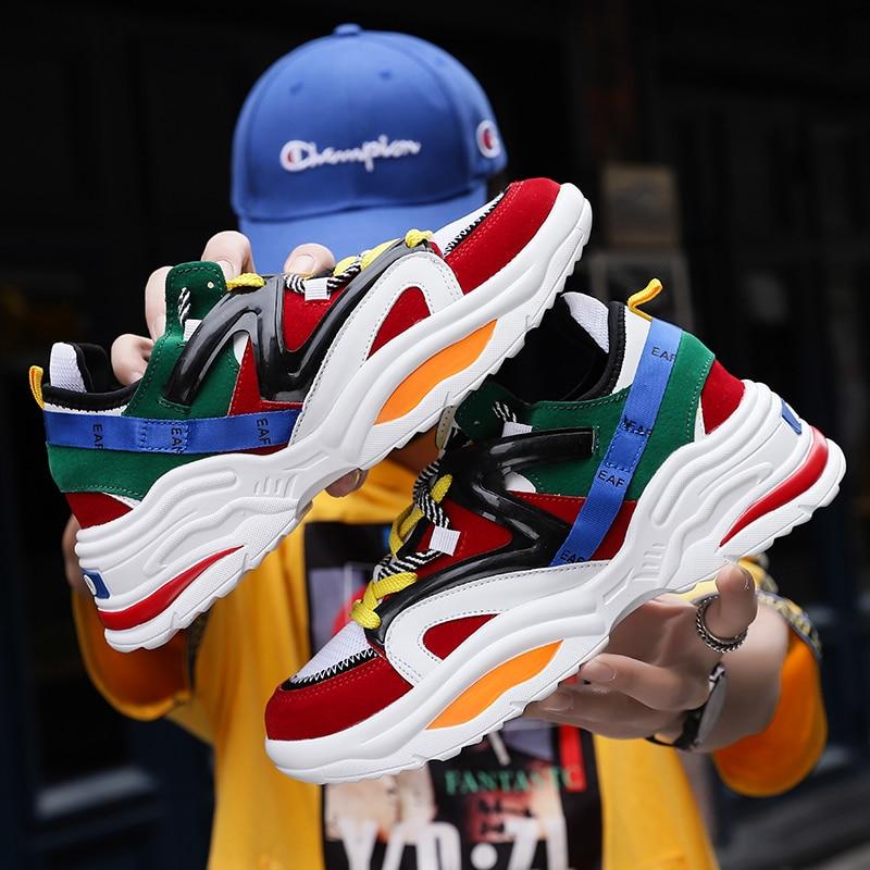 2019 Harajuku Autumn Vintage Sneakers Men Breathable Mesh Casual Shoes Men Comfortable Fashion Tenis Masculino Adulto 2019 Harajuku Autumn Vintage Sneakers Men Breathable Mesh Casual Shoes Men Comfortable Fashion Tenis Masculino Adulto Sneakers