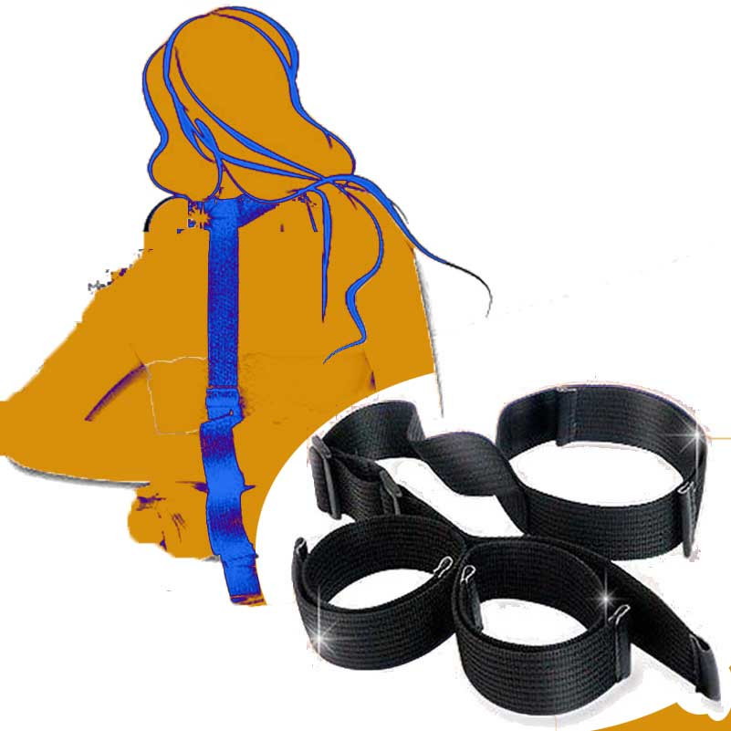 Adult Sex Games Fetish Neck Collar To Hand Restraint Wrist Cuffs Nylon Bondage Restraints Sex Toys For Couple Sex Products