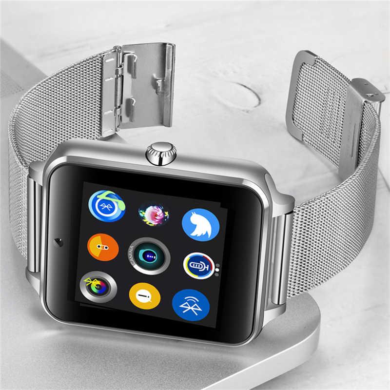 LIGE 2019 nouvelle montre intelligente montre numérique hommes en acier inoxydable Bluetooth montre téléphone Mobile appel SIM TF carte caméra pour Android + boîte
