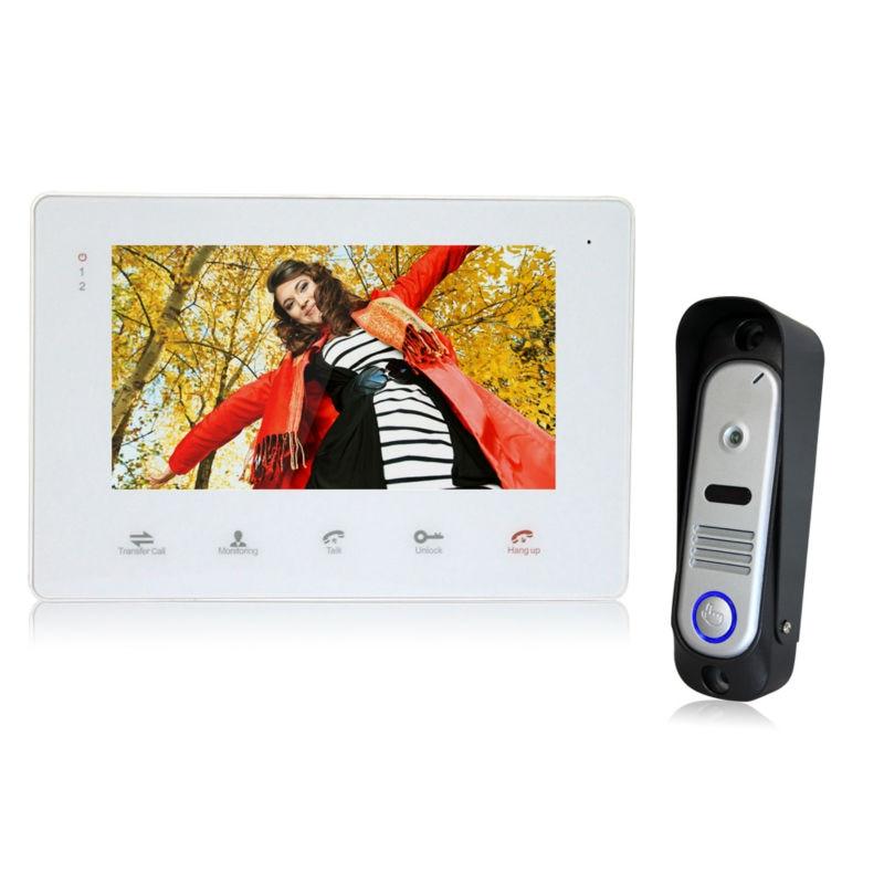 "YSECU 7"" TFT Wired Video Intercom Doorbell Rainproof Door Phone Camera Chime for CCTV Home Security 1 Camera 1 Screen 800 TVL"