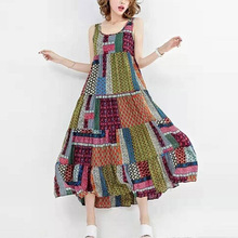 High Quality Bohemia Womens Dress 2019 Summer Casual Dresses Large Sizes National Style Clothes