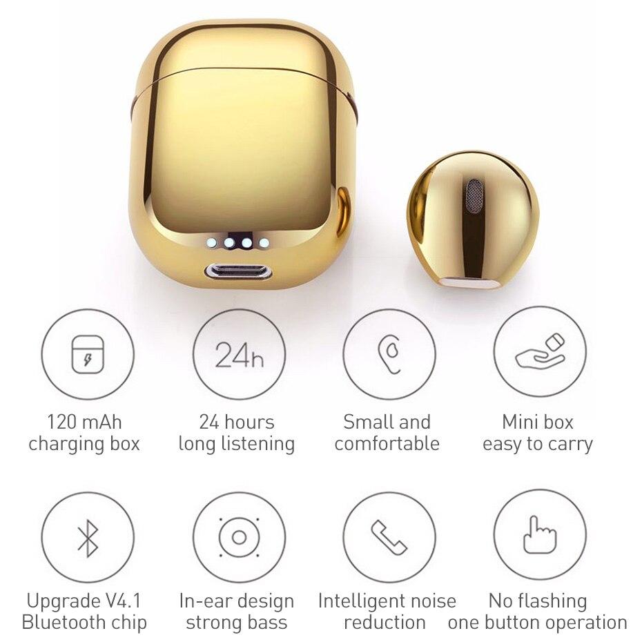 Bluetooth Headset Earphone Wireless Bluetooth V4 2 Headset Sport Stereo Headphones Single Earphone For Iphone 7 Xiaomi Huawei in Bluetooth Earphones Headphones from Consumer Electronics