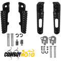 2 pairs Motorcycle Front & Rear Foot Pegs 2 pairs Footrest set for Honda CBR600 RR 2003 - 2006 CBR1000 RR 2004 - 2011 Black