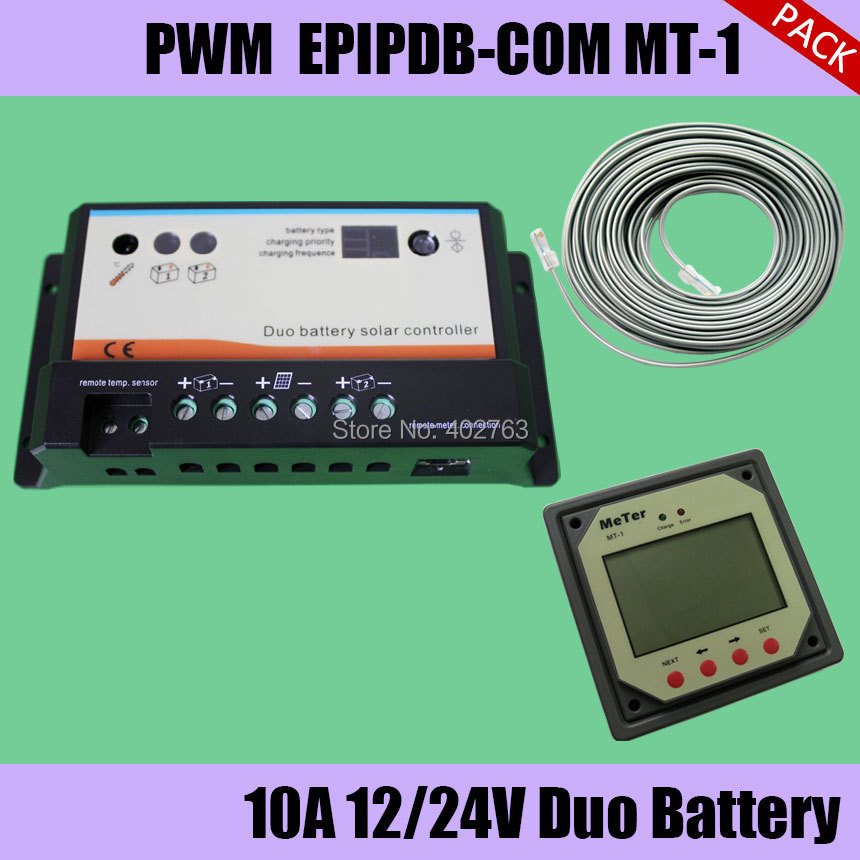 EPIPDB-COM 10A solar charge controller package for dual battery system, solar motor home, RVS, buses, boats, yacht 100w 12v monocrystalline solar panel for 12v battery rv boat car home solar power
