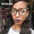 RSSELDN Vintage Eyeglasses Frames for Women Brand Fashion Unisex Eye glasses Frames for Men Plain glass Cat'S Eye Glasses Frame