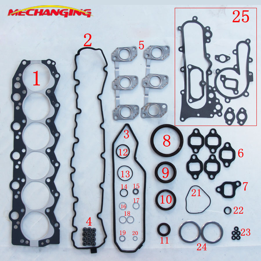 1HZ 1H-Z For TOYOTA LANDCRUISER COASTER DIESEL ENGINE Engine Gasket Engine seal Gasket Full Set Engine Gasket 04111-170201HZ 1H-Z For TOYOTA LANDCRUISER COASTER DIESEL ENGINE Engine Gasket Engine seal Gasket Full Set Engine Gasket 04111-17020
