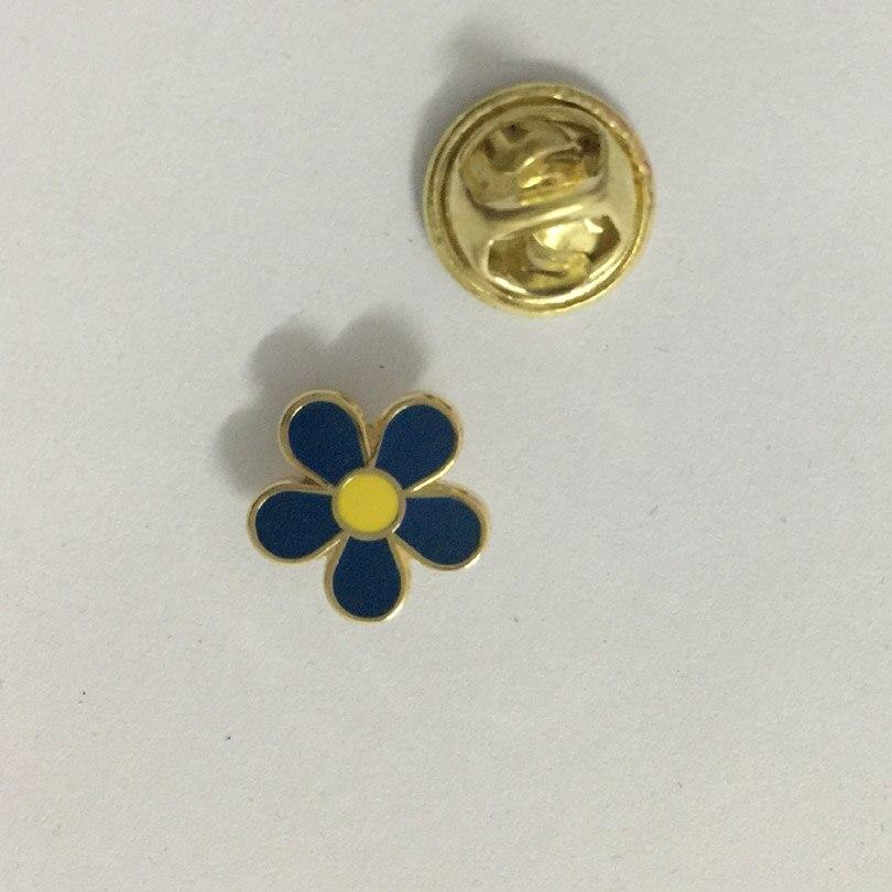 Freemasonry 10mm blue flower lapel pin mason very cute brooch pins badges 100pcs wholesale factory custom