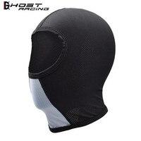 GHOST RACING мотоциклетная шапка-маска для лица, маски для лица для мотоциклетного шлема, летняя черная маскарадная коляска