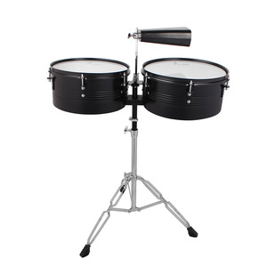 """Image 4 - 13"""" & 14"""" Timbales Drum Set With A Premium Steel Cowbell A pair of Drum Sticks and Cowbell Holder High Quality Training Drum"""