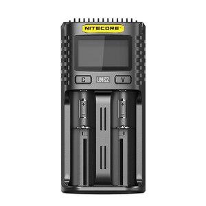 NITECOR UMS2 C4 VC4 LCD Смарт зарядное устройство для Li-ion/IMR/INR/ICR/LiFePO4 18650 14500 26650 AA 3,7 1,2 V 1,5 V батареи D4