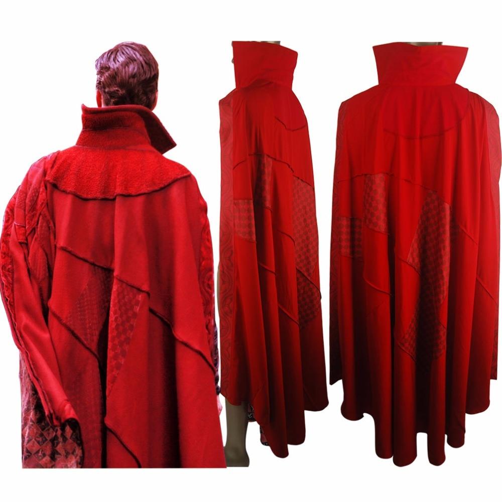 Doctor Strange Cape Cloak Halloween Cosplay Costume Comic-con Men Adults
