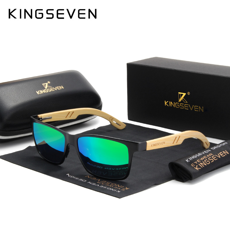 KINGSEVEN 2019 Handmade Bamboo Wood Sunglasses Polarized Lens For Driving Women Eyewear UV400 Protection|Men's Sunglasses| - AliExpress