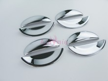 цена на Door Handle Bowl Insert and Cover ABS Frame Panel Chrome Detector Car Styling For Peugeot 206 CITROEN C2 Accessories