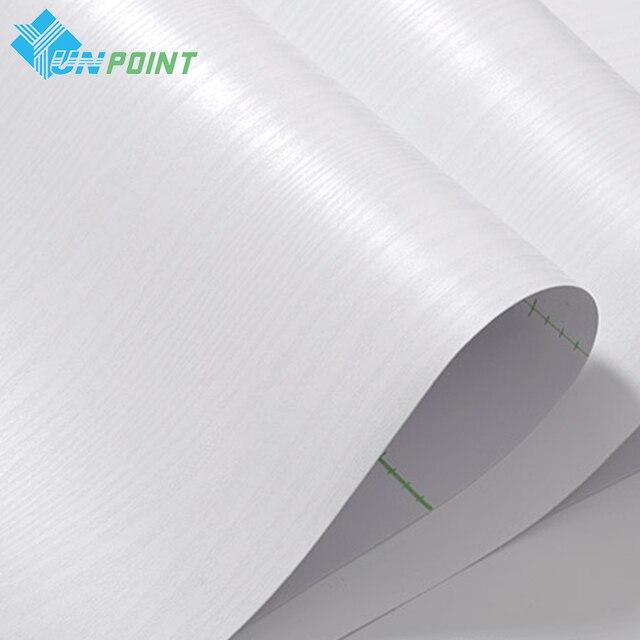 5M White Wood Grain Vinyl Self Adhesive Wallpaper PVC Waterproof Decorative Film Kitchen Cabinet Wardrobe Furniture