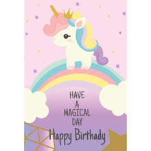 Laeacco Unicorn Baby Birthday Party Wallpapers Of Photographic Backgrounds Personalized Photography Backdrops For Photos Studio