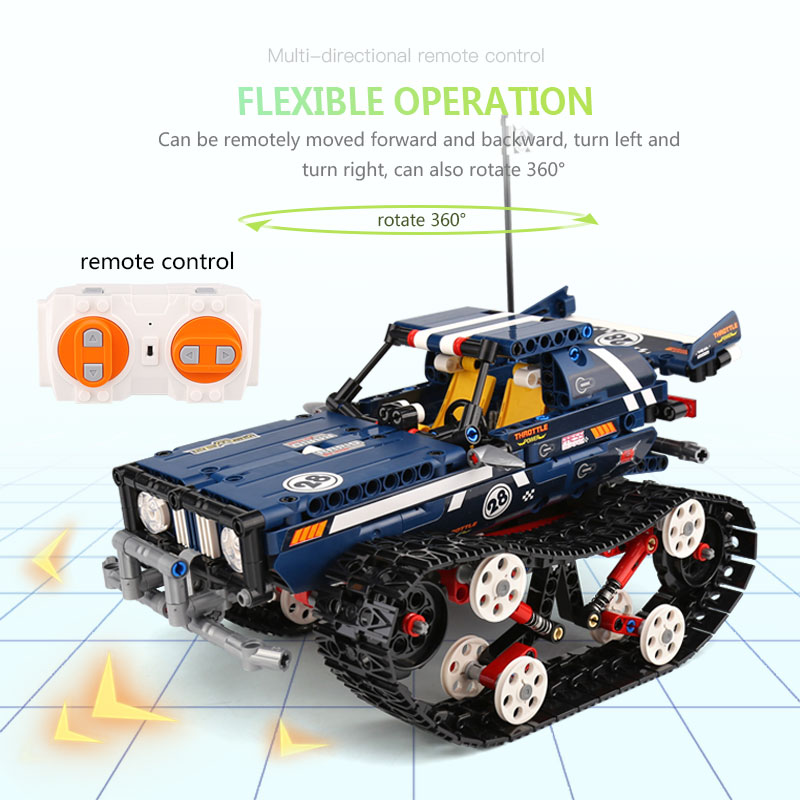 Image 2 - Technic Car Series 20011 RC Crawler Racing Car Remote Control RC Car Model Building Blocks Set Toy compatible with Lego Technic-in Blocks from Toys & Hobbies