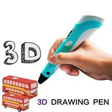 Printing 3D Pen Birthday Gift LED Display Mais Vendidos Lapiz kids Drawing With PLA Filament Criativa