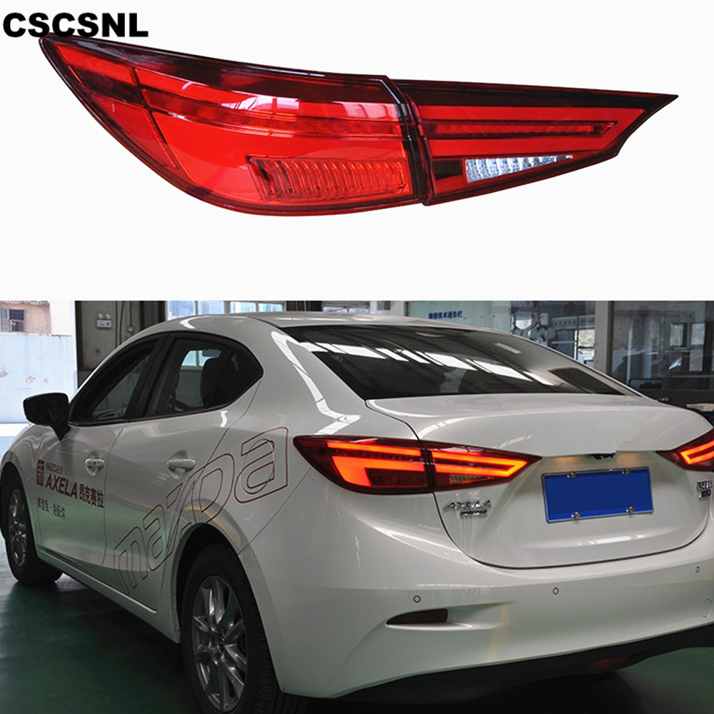 CSCSNL 1pair for Mazda3 Axela 2014 2015 2016 2017 taillight Mazda 3 M3 TAIL Lights LED