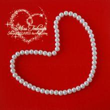 1 pçs nova corda elástica crianças contas colar bonito combinação branca ambiental presentes bonitos pulseira pérola colar