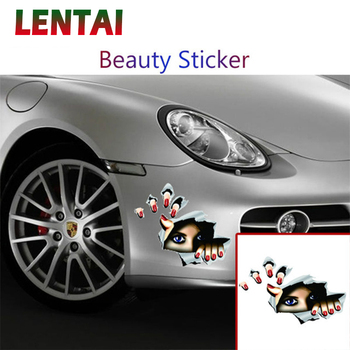 LENTAI For Mercedes benz w204 w203 BMW e46 e39 e90 e60 e36 f30 f10 e30 x5 e53 f20 Mini cooper 1PC Car 3D Stickers Eyes Styling image