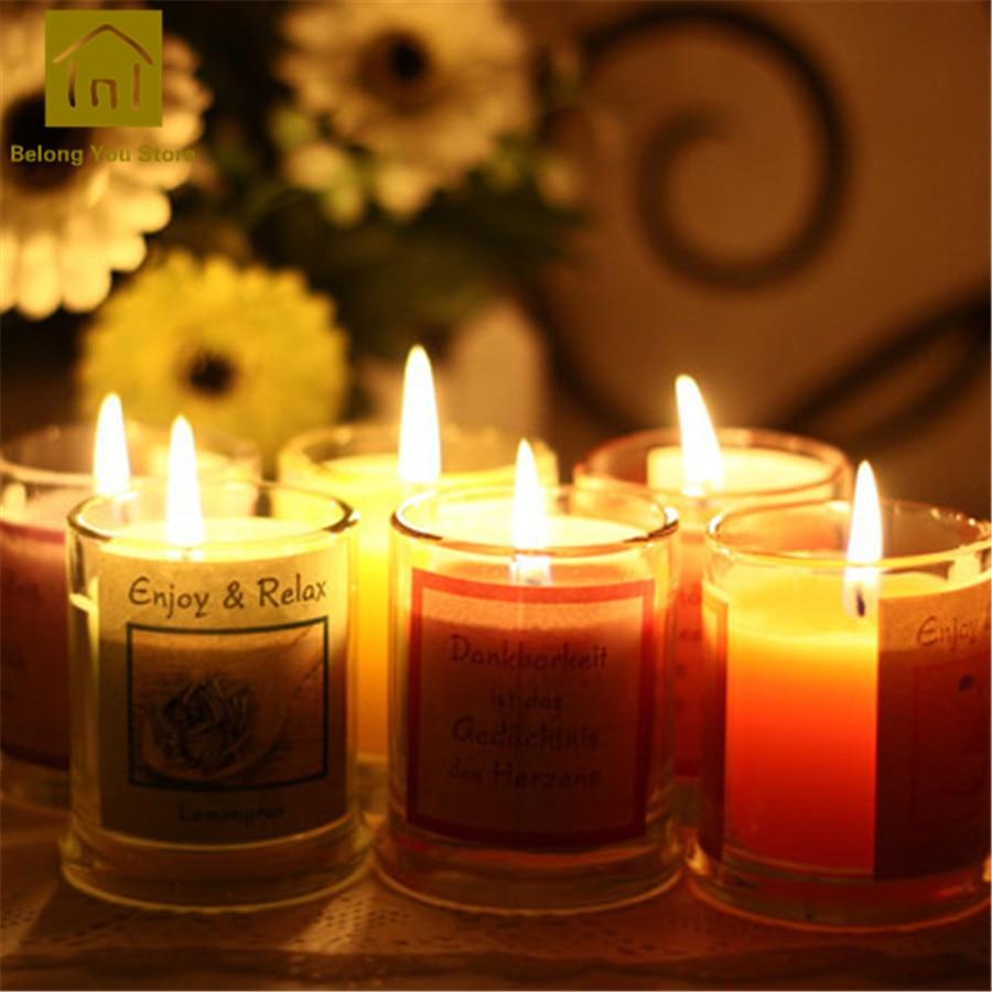 Paquet de support de Bougies chauffe-plat aromathérapie Bougies parfumées décoratives Velas Bougies parfumées fabrication de Bougies pilier JKK104 - 3