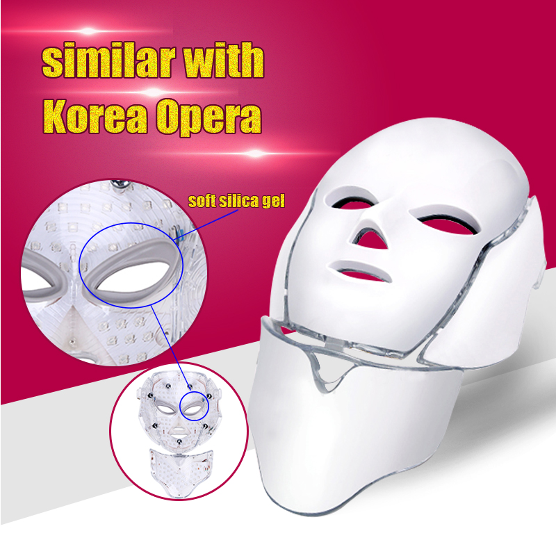 Hot sale!!! LED Photon Light Facial Neck Mask Skin Rejuvenation With BIO For Acne Removal