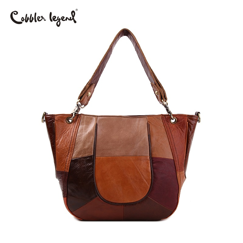Cobbler Legend Vintage Women Crossbody Genuine Leather Bag Big Women Shoulder Bags Luxury Messenger Bags Female