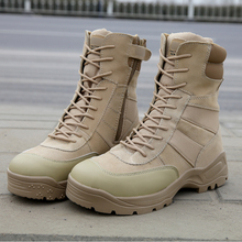 Outdoor fight boots males Military particular tactical footwear Trekking climbing boots Hunting climbing boots Wear-resisting,2 Color
