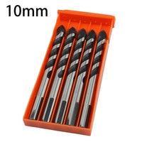 5pcs 10mm Drill Bit Set Professional Masonry Drilling For Concrete