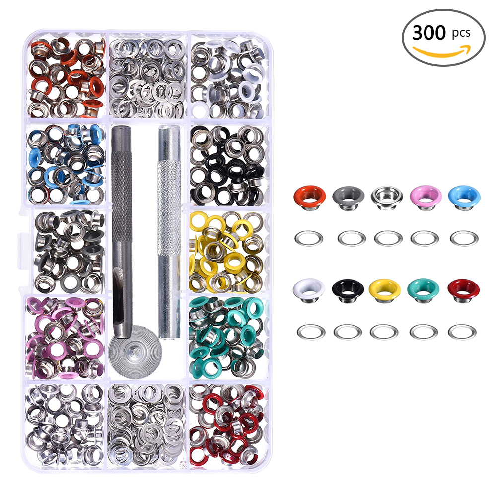 300 pcs 5mm DIY Eyelets Buckle Mounting Tools Leather Craft Rivets Replacement
