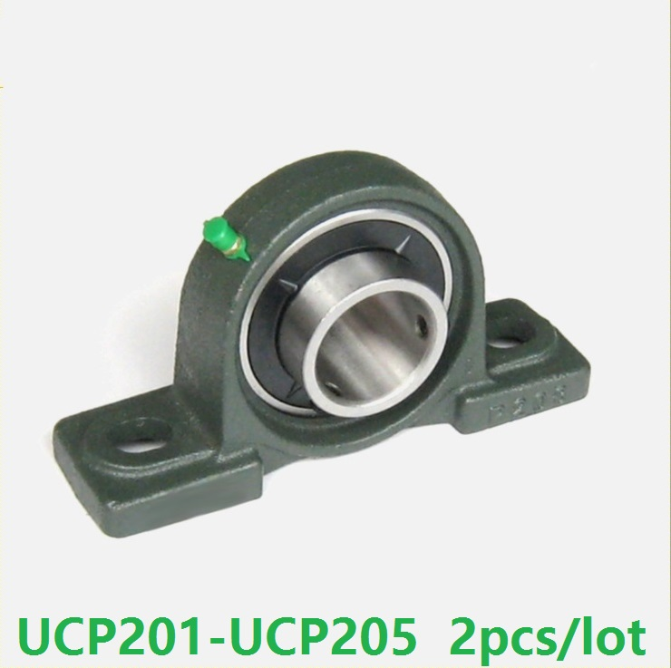 2pcs UCP201 UCP202 UCP203 UCP204 UCP205 Pillow Block Bearing insert Inner Diameter 12mm 15mm 17mm 20mm