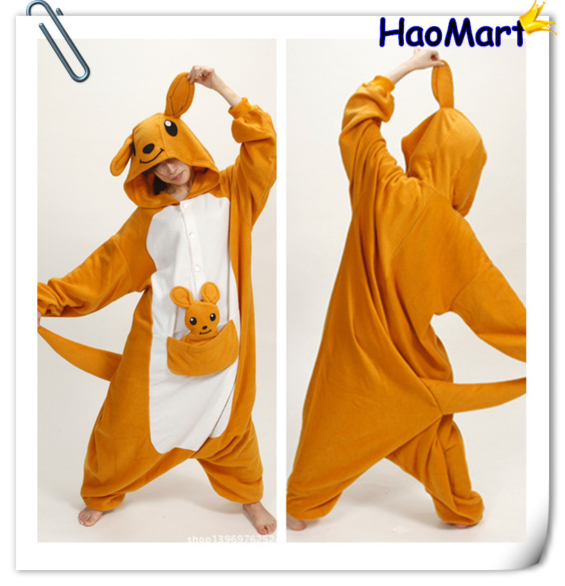 Free Shipping Top Fleece Popular Hooded Kangaroo Animal Halloween Onesie  Matching Christmas Pajamas For Adults-in Anime Costumes from Novelty &  Special Use ...