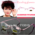 2017 Titanium magnesium alloy women lady non aspheric surface red super lite reading glasses +1 +1.5 +2 +2.5 +3 +3.5 +4