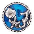 20 ММ Морской оснастки Серебро с Покрытием из Эмали щелкает ювелирных изделий KC6155